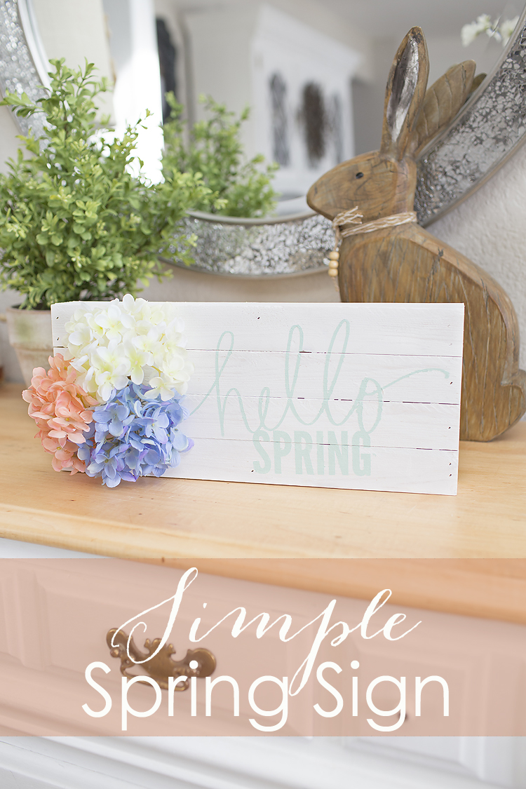 DIY Hello Spring Sign