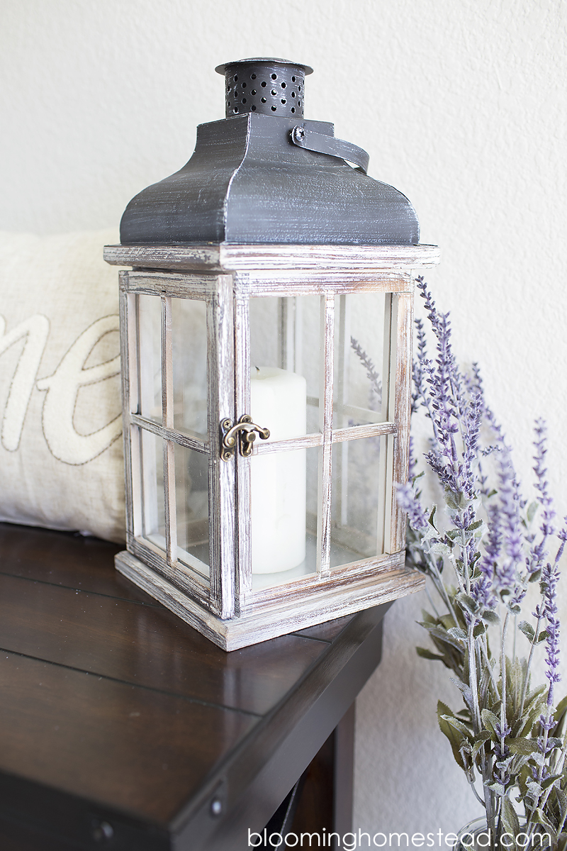 Distressed Lantern farmhouse style