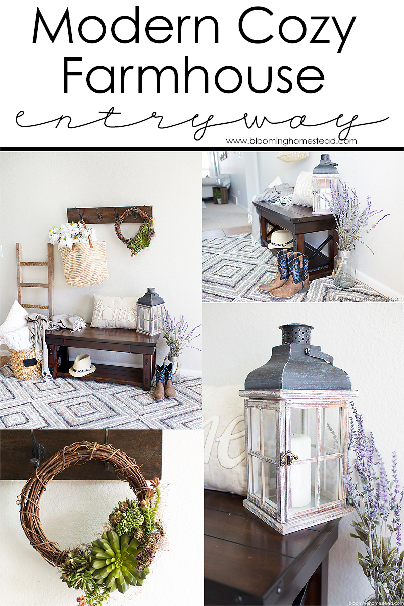 Modern Cozy Farmhouse Entrway Styling Ideas
