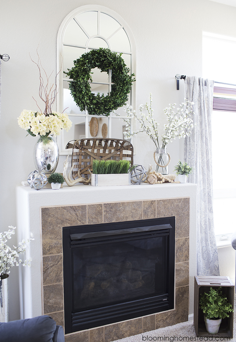 Summer Mantle Decor Blooming Homestead