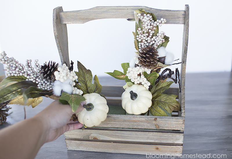Add in floral stems