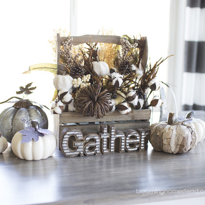 Simple Fall Centerpiece