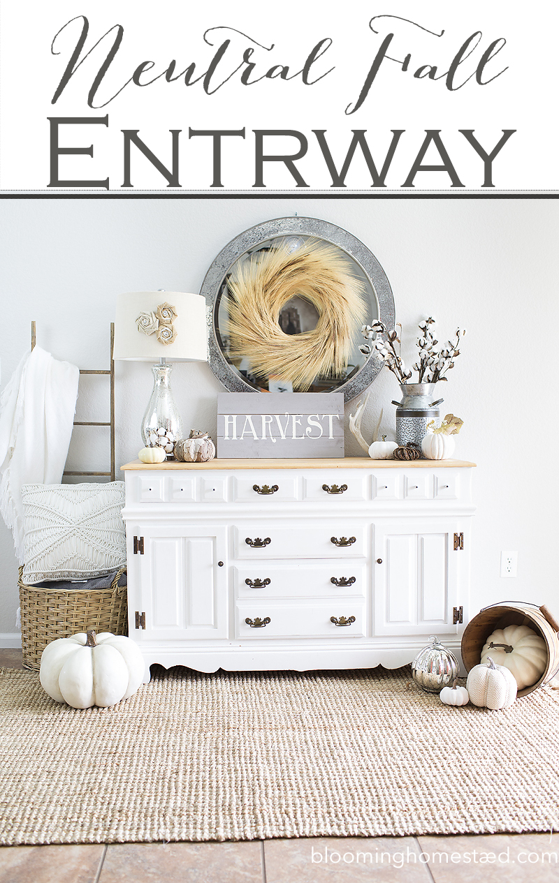 Beautiful Neutral Fall Entryway by Blooming Homestead1