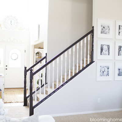 Stair Railing Makeover-One Year Later