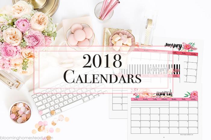Astonishing 2018 Calendar Blooming Homestead Download Free Architecture Designs Scobabritishbridgeorg