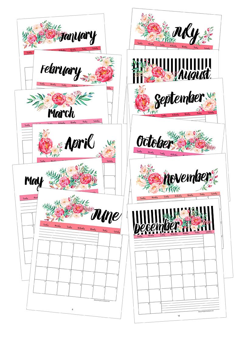 2018 Portrait Calendars by BH
