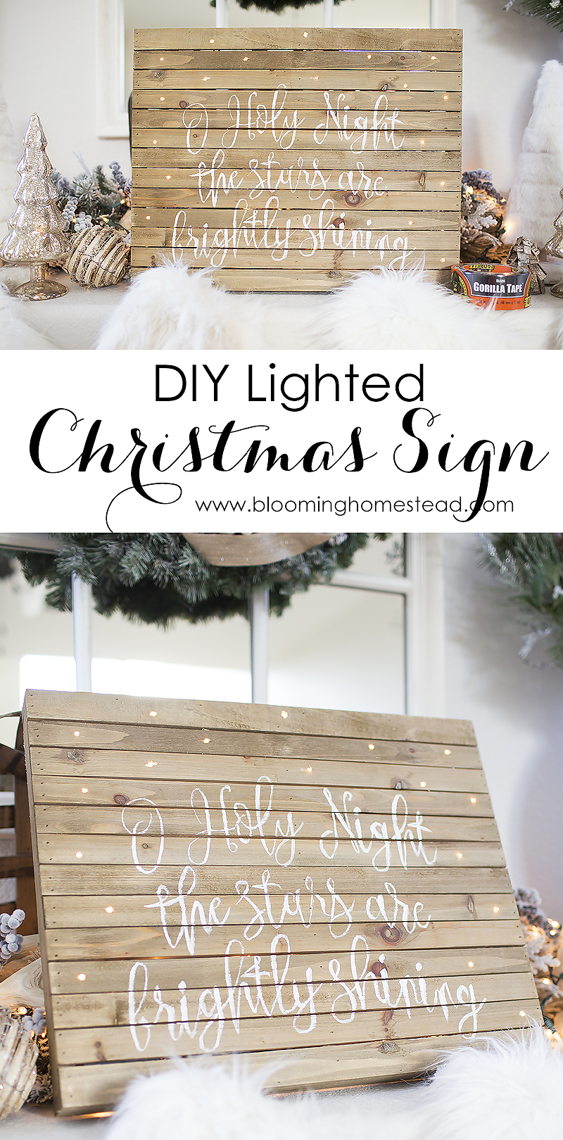 This diy lighted Christmas Sign is easy to make and looks great. Create your own by following this tutorial.