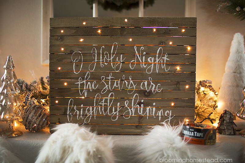 Light up Christmas sign
