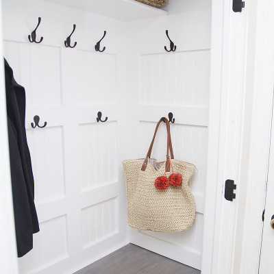 DIY Mudroom Closet