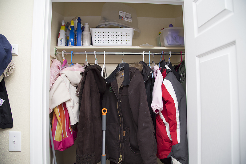 Easy coat closet makeover