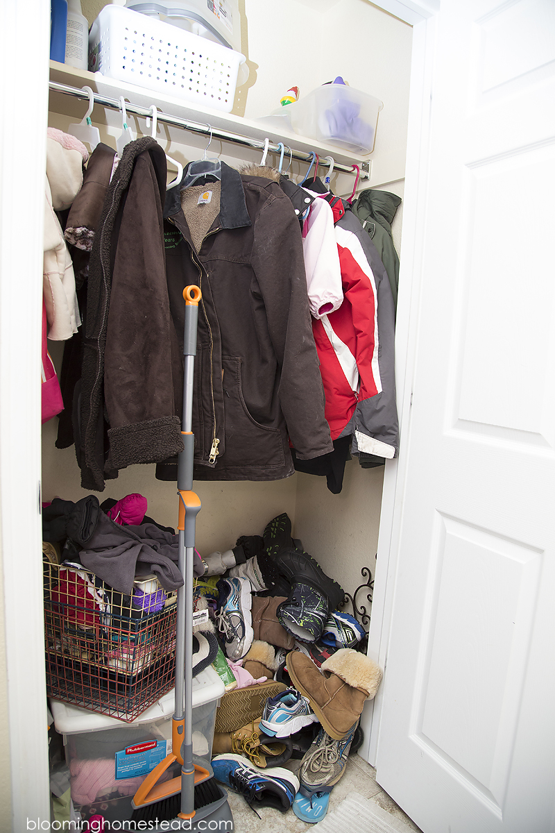 How to manage coat closet clutter