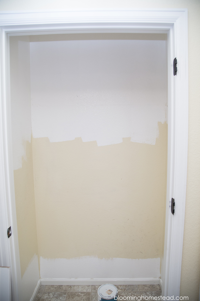 Remove existing closet shelf and rod