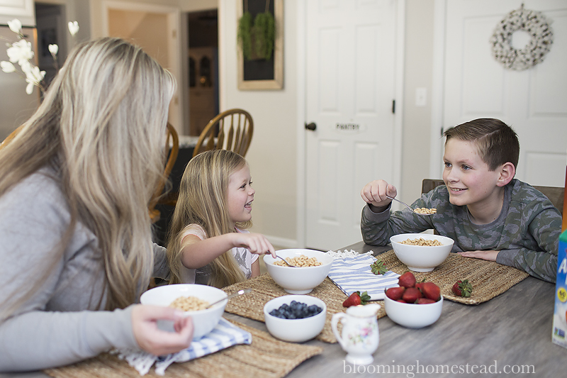 Family Breakfast at Blooming Homestead
