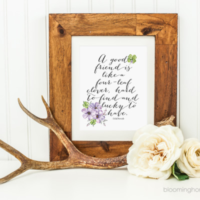 Free printable St. Patrick's Day Home Decor Print