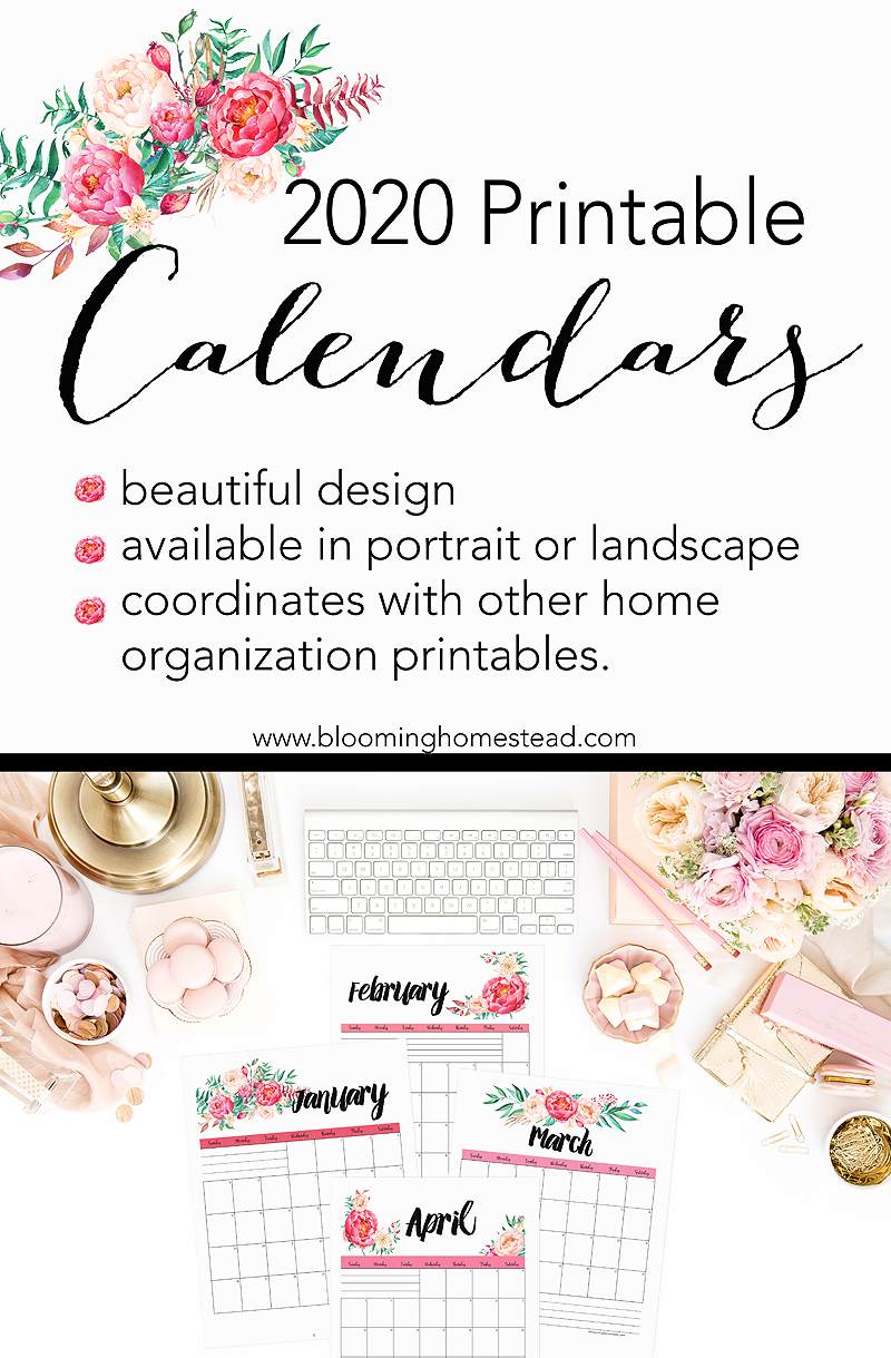 2020 Calendar by Blooming Homestead