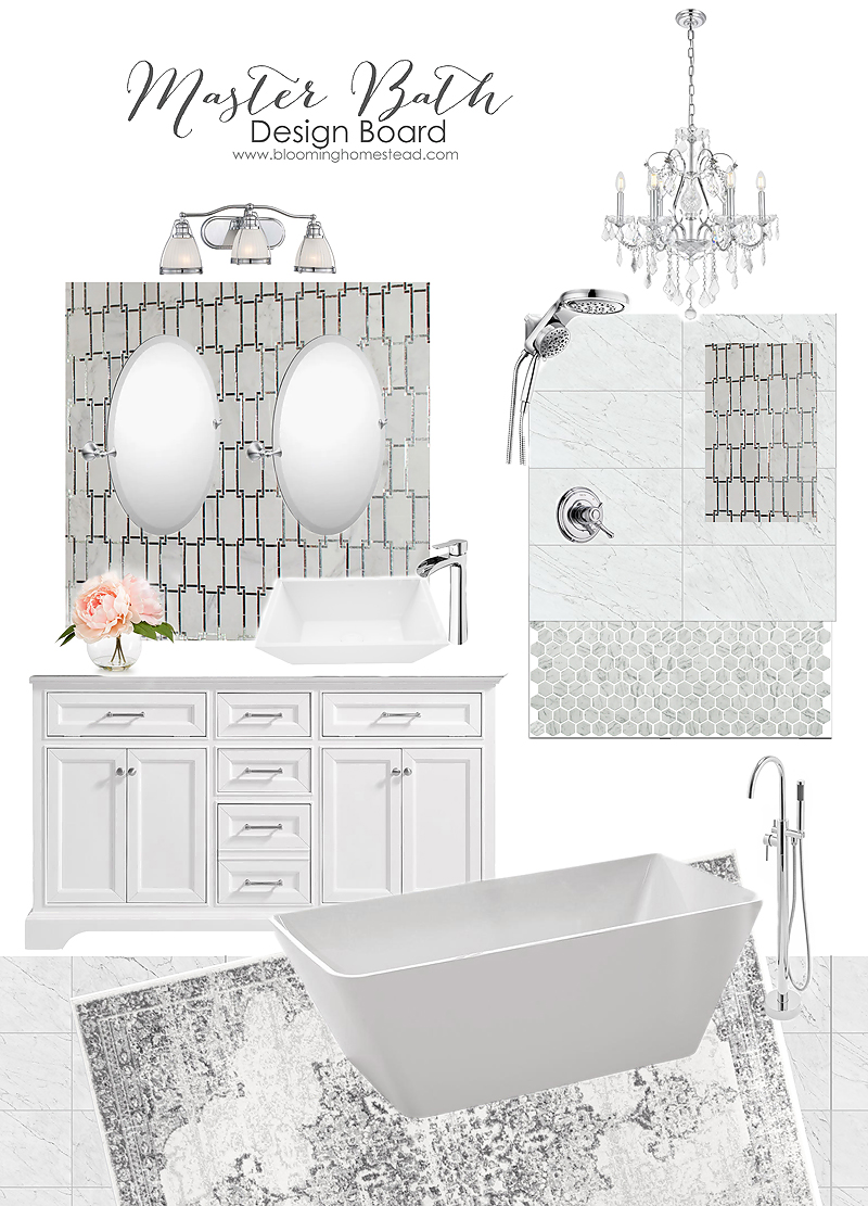 Gorgeous master bathroom design board for elegant yet classic decor styles